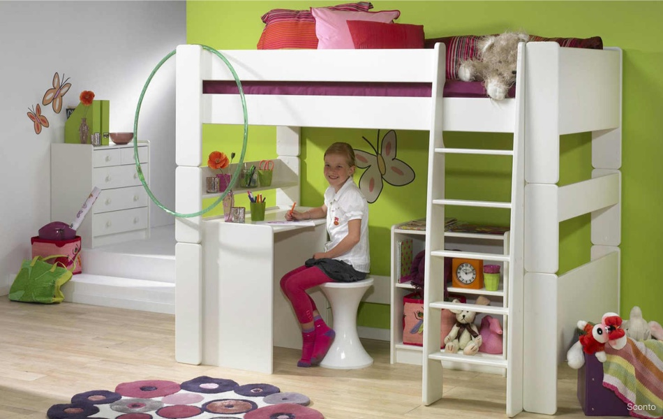 Poschodová posteľ FOR KIDS 614