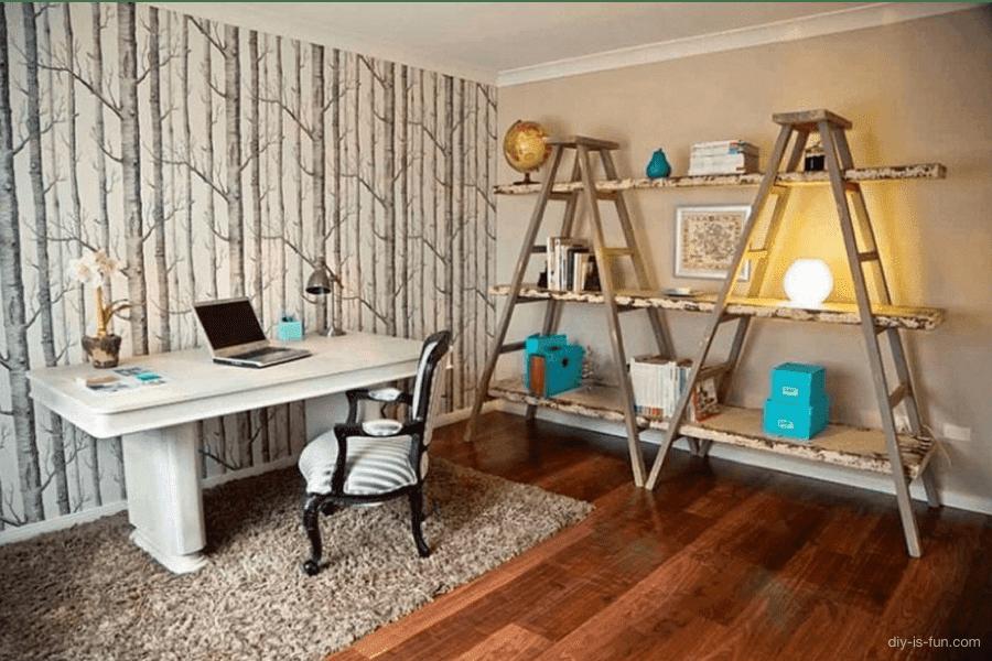 Premeňte starý rebrík na jedinečnú dekoráciu