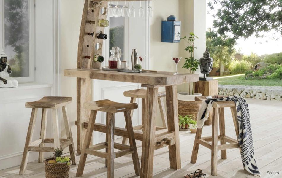 Riešenie do malých kuchýň: barové pulty a stoličky